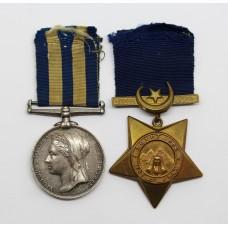 Egypt Medal & 1882 Khedives Star - Pte. T. Coy, 2nd Bn. Derbyshire Regiment