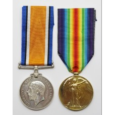 WW1 British War & Victory Medal Pair - Gnr. A. Shadforth, Royal Garrison Artillery