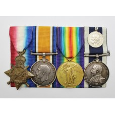 WW1 1914-15 Star, British War Medal, Victory Medal & Royal Navy LS&GC Battle of Jutland Medal Group - F.W. Hallen, E.R.A.1., Royal Navy, HMS Orion
