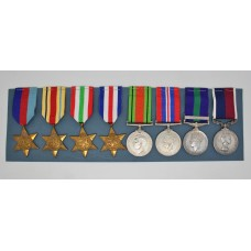 WW2, General Service Medal (Clasp - Malaya) and R.A.F. Long Service & Good Conduct Medal Group of Eight - Sgt. J.R. Buckham, Royal Air Force