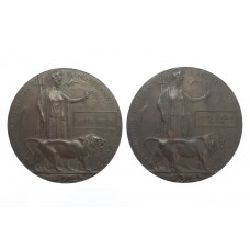 Two WW1 Memorial Plaques to the Brown Brothers - Royal Inniskilling Fusiliers