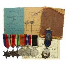 WW2 New Zealand Special Forces Medal Group of Six - Trooper Albert E. Hughes