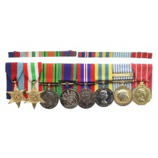 Canadian WW2 and Korean War Medal Group of Eight - A. Sgt. E.L. M