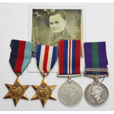 WW2 and General Service Medal (Clasp - Palestine 1945-48) Group of Four - Gnr. P.G. Phillips, Royal Artillery (Airborne)