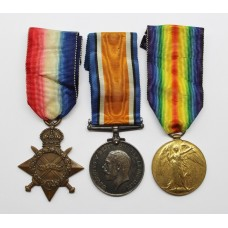 WW1 1914-15 Star Medal Trio - L.Cpl. C. Porter, Highland Light Infantry