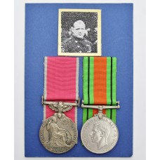 British Empire Medal (For Gallantry) and WW2 Defence Medal - Fireman John Alfred Christian, Works Fire Brigade, Royal Ordnance Factory