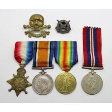 WW1 1914 Mons Star Medal Trio - Pte. W.J. Bryant, 17th Lancers (F