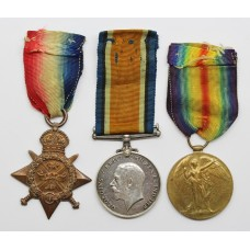 WW1 1914 Mons Star Medal Trio - Sjt. F.W. Ray, Lancashire Fusiliers / Machine Gun Corps - Killed In Action