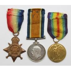WW1 1914 Mons Star Medal Trio - Sjt. F.W. Ray, Lancashire Fusilie