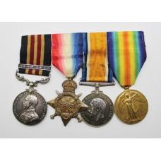 WW1 Military Medal & Bar, 1914-15 Star, British War Medal &am