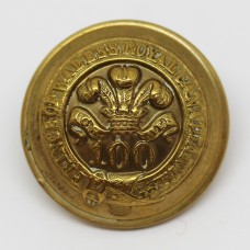 Victorian 100th (Prince of Wales's Royal Canadian) Regiment of Foot Officer's Button (Large)