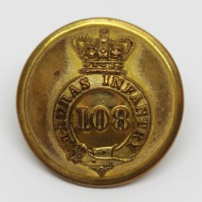 Victorian 108th (Madras Infantry) Regiment of Foot Officer's Button (Large)