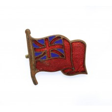 Merchant Navy Red Ensign Flag Enamelled Sweetheart Brooch