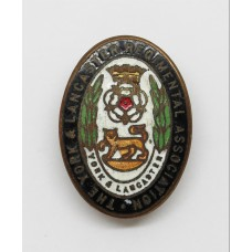 York and Lancaster Regimental Association Enamelled Lapel Badge