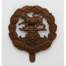 Hampshire Regiment WWI All Brass Economy Cap Badge