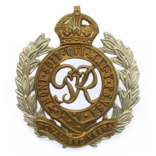George VI Royal Engineers Bi-metal Cap Badge