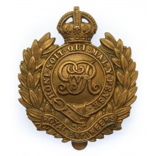 George V Royal Engineers Economy Cap Badge (Non Voided Centre).