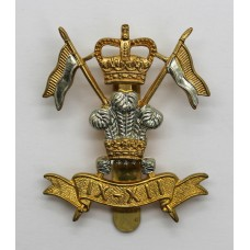 9th/12th Royal Lancers Cap Badge - Queen's Crown