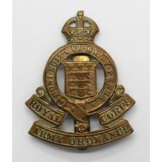 Royal Army Ordnance Corps (R.A.O.C.) Cap Badge - King's Crown