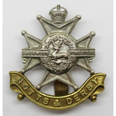 Notts & Derby Regiment (Sherwood Foresters) Cap Badge - King'