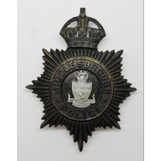 Middlesbrough Borough Police Night Helmet Plate - King's Crown