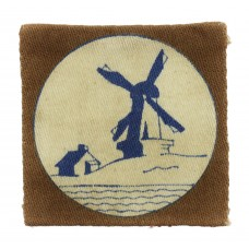 WW2 Netherlands District Printed Formation Sign