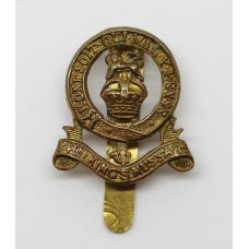 14th King's Hussars Small Cartwheel Cap Badge - King's Crown