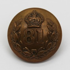 Indian Army 81st Pioneers Officer's Button - King's Crown (Large)