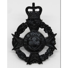 Royal Army Chaplain's Department Black Anodised (Staybrite) Cap Badge - Queen's Crown