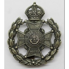 7th Bn. (The Robin Hood) Sherwood Foresters Cap Badge - King's Cr