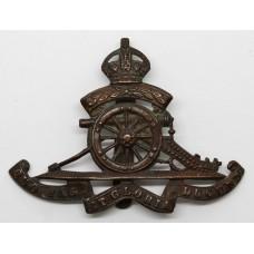 Royal Artillery Territorials Bronzed Cap Badge - King's Crown