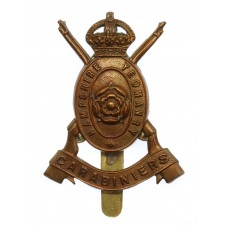 Hampshire Yeomanry Carabiniers Cap Badge - King's Crown