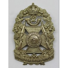 South African Witwatersrand Rifles Cap Badge - King's Crown