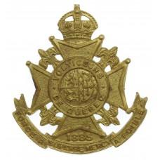 Canadian Les Voltigeurs de Quebec Cap Badge - King's Crown