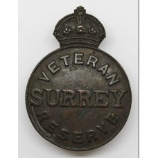 WW1 Surrey Veteran Reserve Lapel Badge - King's Crown