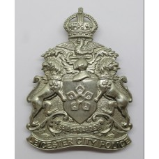 Leicester City Police Helmet Plate - King's Crown