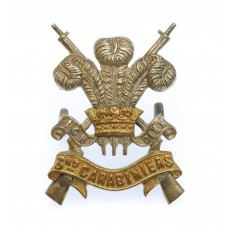 3rd Carabiniers Officer's Dress Cap Badge