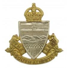 Canadian South Alberta Regiment Cap Badge - King's Crown