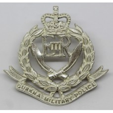 Gurkha Military Police Officer's Silver Plated Cap Badge - Queen'
