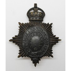 Cumberland & Westmoreland Constabulary Night Helmet Plate - K