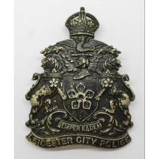 Leicester City Police Night Helmet Plate - King's Crown