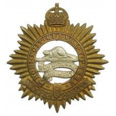 Canadian The Midland Regiment (Northumberland & Durham) Cap Badge - King's Crown