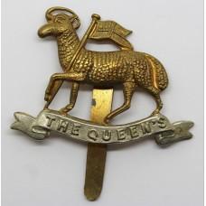 The Queen's (Royal West Surrey) Regiment Bi-metal Cap Badge