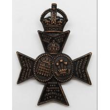 16th Battalion (Queen's Westminster & Civil Service Rifles) London Regiment Cap Badge - King's Crown