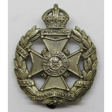 8th City of London Bn. (Post Office Rifles) London Regiment Cap Badge - King's Crown
