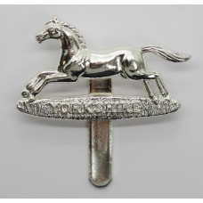 Prince of Wales Own Regiment of Yorkshire Chrome Cap Badge