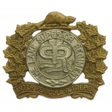 Canadian Lake Superior Regiment Cap Badge