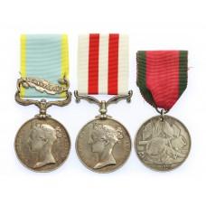 1854 Crimea Medal (Clasp - Sebastopol), Indian Mutiny Medal &