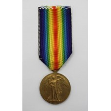 WW1 Victory Medal - Pte. L.S. Oliver, 7th Bn. East Kent Regiment (The Buffs) - Wounded