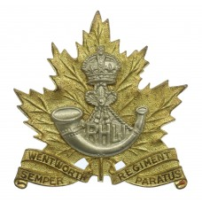 Canadian Wentworth Regiment Cap Badge - King's Crown